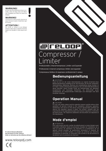 Compressor / Limiter - Reloop