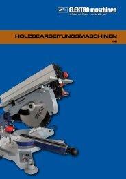HOLZBEARBEITUNGSMASCHINEN - REM Maschinen