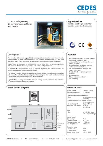 Cegardlift li description block circuit diagram cedes cegardlift li description block circuit diagram features cedes ccuart Images