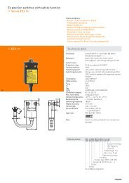 // EEX 14 Technical data Ex position switches with safety function ...