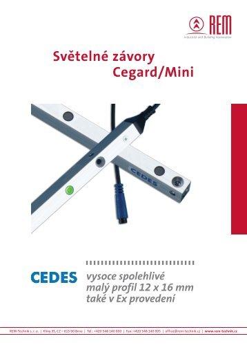 Ceník světelné závory Cegard/Mini - REM-Technik sro