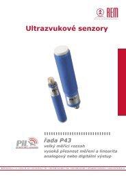 Kompaktní ultrazvukové senzory P43 - REM-Technik sro