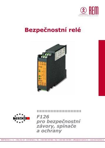 Bezpečnostní relé - REM-Technik sro