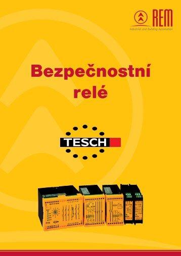 Přehled bezpečnostních relé TESCH - REM-Technik sro
