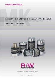 MINIATURE METAL BELLOWS COUPLINGS - REM-Technik sro