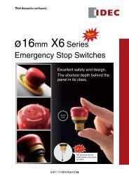ř16mm X6Series Emergency Stop Switches - REM-Technik sro
