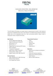 accelens industrial inclinometer analog & rs232 ... - REM-Technik sro