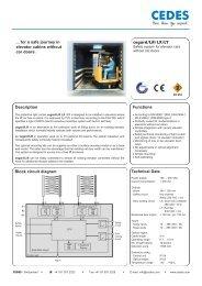 Description Block circuit diagram cegard/Lift LX/LY ... - Cedes