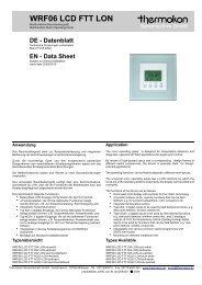 WRF06 LCD FTT LON - Thermokon Sensortechnik GmbH