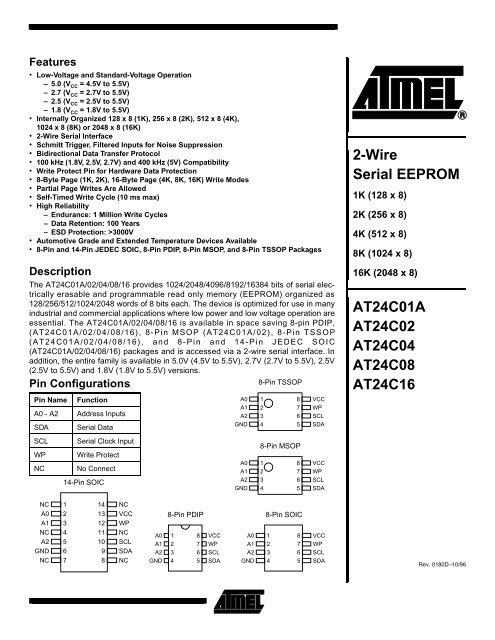 ATMEL Serial EEPROM