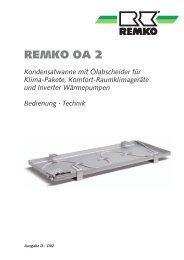Kondensatwanne mit Oelabscheider OA2 D-D02 - Remko