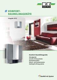 REMKO Komfort-Raumklimageräte 2012