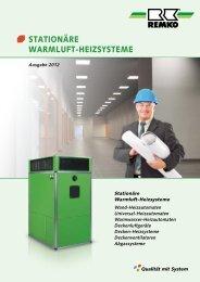 REMKO Stationäre Warmluft-Heizsysteme 2012