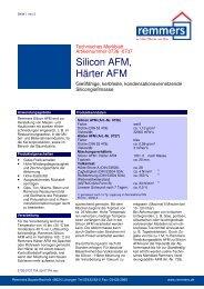 Silicon AFM, Härter AFM - Remmers