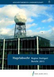 Bericht über die Hagelabwehr im Raum mittlerer Neckar 2013