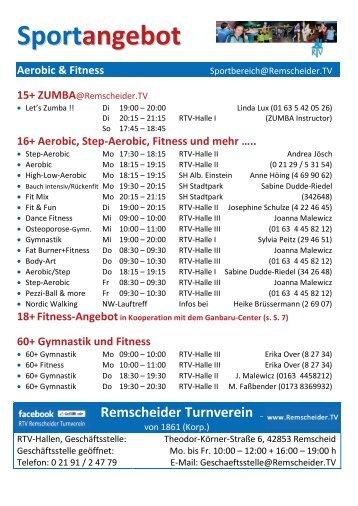 Unser Sportangebot, Stand: 21.03.2013 (pdf-Datei) - Remscheider ...