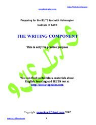 THE WRITING COMPONENT