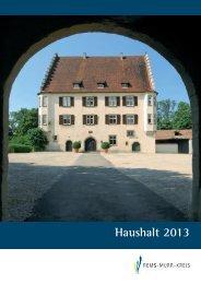 Haushaltsplanung und Überwachung 2013 - Landratsamt Rems ...