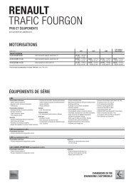 TRAFIC FOURGON PRIX ET ÉQUIPEMENTS - Renault