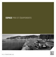 ESPACE PRIX ET ÉQUIPEMENTS - Renault