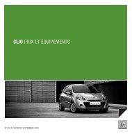 CLIO PRIX ET ÉQUIPEMENTS - Renault