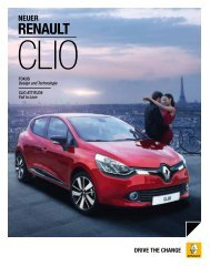 Das erste Mal vergisst man nie. Der Neue Renault Clio.