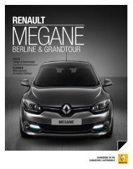 RENAULT MEGANE BERLINE COLLECTION 2012