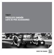 twizy preisliste zubehör liste de prix accessoires drive the ... - Renault