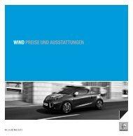 WIND PREISE UND AUSSTATTUNGEN - Renault