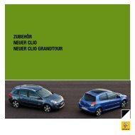 ZUBEHÖR NEUER CLIO NEUER CLIO GRANDTOUR - Renault