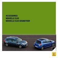 ACCESSOIRES nOuvEllE ClIO nOuvEllE ClIO GRAndtOuR - Renault