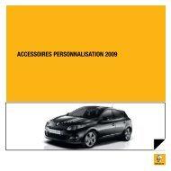 ACCESSOIRES PERSONNALISATION 2009 - Renault.be