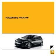 PERSOONLIJKE TOUCH 2009 - Renault.be