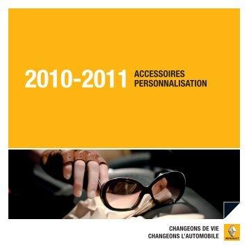 2010-2011ACCESSOIRES PERSONNALISATION - Renault.be