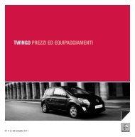 TWINGO PREZZI ED EQUIPAGGIAMENTI - Renault