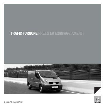 TRAFIC FURGONE PREZZI ED EQUIPAGGIAMENTI - Renault