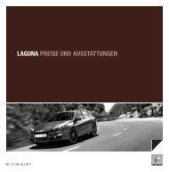 LAGUNA PREISE UND AUSSTATTUNGEN - Renault