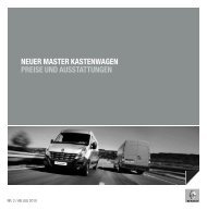 neuer master kastenwagen preise und ausstattungen - Renault