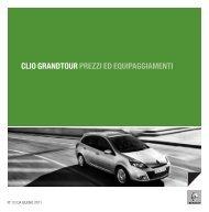 CLIO GRANDTOUR PREZZI ED EQUIPAGGIAMENTI - Renault