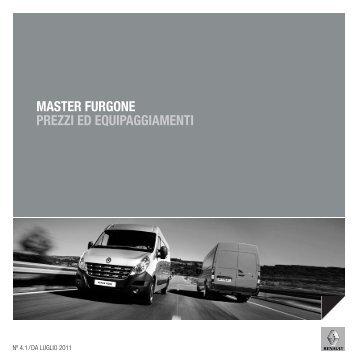 MASTER FURGONE PREZZI ED EQUIPAGGIAMENTI - Renault