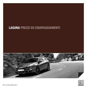 LAGUNA PREZZI ED EQUIPAGGIAMENTI - Renault