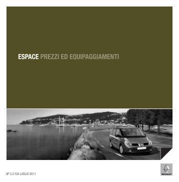 ESPACE PREZZI ED EQUIPAGGIAMENTI - Renault