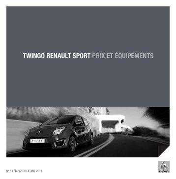 Liste de prix - Renault