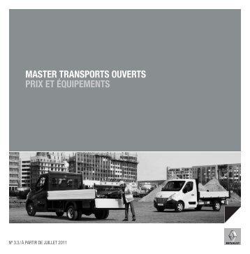 master transports ouverts prix et équipements - Renault