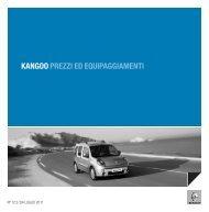 KANGOO PREZZI ED EQUIPAGGIAMENTI - Renault
