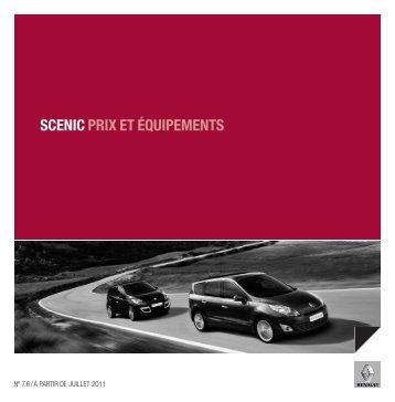 SCENIC PRIX ET ÉQUIPEMENTS - Renault