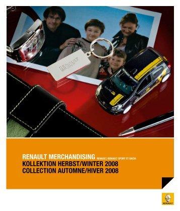 renault merchandising kollektion herbst/winter 2008 collection ...