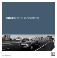 KOLEOS PREZZI ED EQUIPAGGIAMENTI - Renault