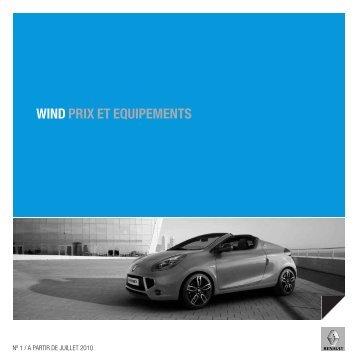 WIND PRIX ET EQUIPEMENTS - Renault
