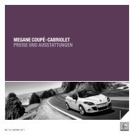 megane coupé-cabriolet preise und ausstattungen - Renault